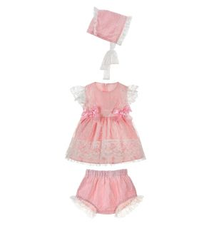 "Adorable ""Lolita"" Baby Girls 3 Piece Dress Set"