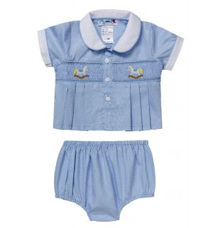 "Aurora Royal Baby Boy ""Ascot"" Shirt & Shorts Set"