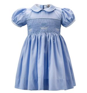 """Amanda"" Hand Smocked, Hand Embroidered Classic Dresses."