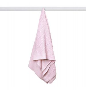 PACK OF 3 Baby Girl Pink Soft & Lightweight Knitted Blanket