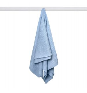 PACK OF 3 Baby Boy Blue Soft & Lightweight Knitted Blanket