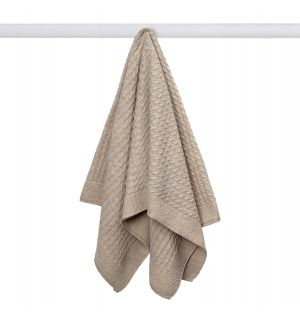 Baby Grey Soft & Lightweight Cable Knitted Blanket