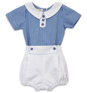 "PACK OF 7 ""Nicholas"" Blue & White Buster Suit. BESTSELLER"