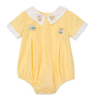 "PACK OF 3 ""Home,sweet home"" Yellow Embroidered Romper"