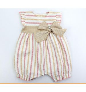 """PACK OF 4 """"Rosy"""" Soft Baby Girl Playsuit"""