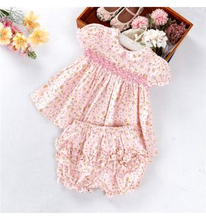 """AURORA ROYAL  """"ALLISON"""" Hand-Smocked Outfit"""
