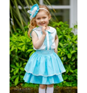 """Aurora Royal """"CONSUELO"""" Girls Spanish 3 Piece Outfit"""