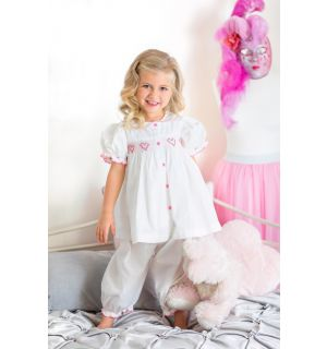 "Aurora Royal  ""Sweet Dreams"" Hand-Smocked Pyjamas Set"