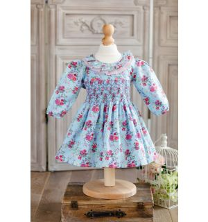 """PACK OF 5 """"FLORGEOUS"""" Hand-Smocked Dress"""