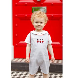 "PACK OF 4 ""The Guards"" Linen Dungaree Shorts & Shirt Set"