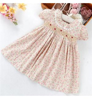 "PACK OF 5 Aurora Royal ""Valeria"" Hand Smocked Dress. SIZES: SIZES: 9m,12m,18m,24m,3Y"