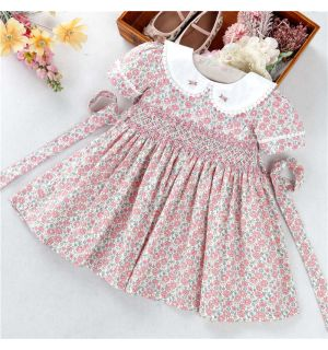 "PACK OF 5 Aurora Royal ""Olivia"" Hand Smocked Dress. SIZES: 1Y,2Y,3Y,4Y,5Y"