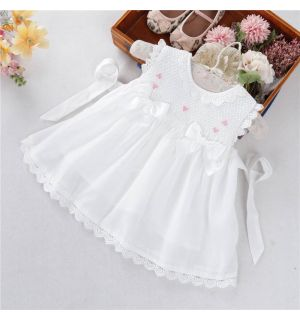 "PACK OF 5  White ""Amazing Grace"" Smocked Dress"