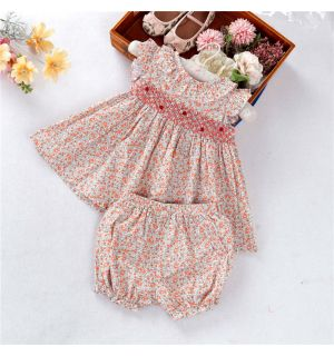 "PACK OF 5  ""Dandelion"" Hand-Smocked Set. SIZES: 9M,12M,18M,24M,3Y"