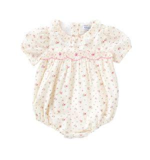 "PACK OF 5 ""LEONELLA"" Cream Hand Smocked Rompers"