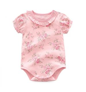 """PACK OF 4 """"SALLY"""" Pink Cotton Bodysuits"""
