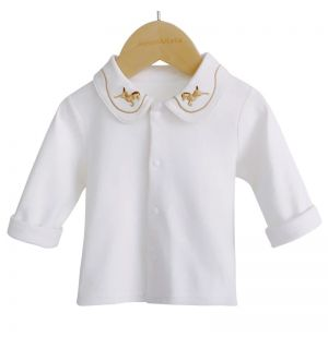 "PACK OF 4 ""BRENDON"" White Embroidered Tops"