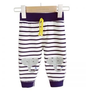 "PACK OF 4 ""CALF"" Baby Boys Striped Joggers"