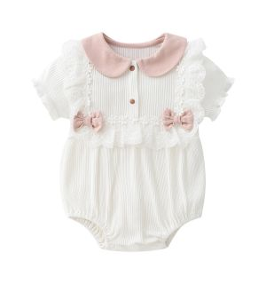 """PACK OF 4 """"MILLA"""" Ivory Cotton Shortie&Headbow Set"""