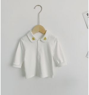 """Aurora Royal """"CROWN"""" White Embroidered Tops"""