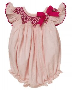 "Aurora Royal Baby Girls "" Erica "" Hand-Smocked Romper.LIMITED"