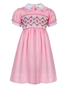 "Aurora Royal ""Mademoiselle"" Pink Hand Smocked Dress"