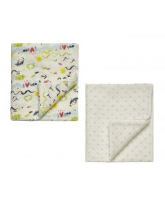 "Pack of 2 "" Holidays "" Silky Soft & Absorbent Swaddle Blankets"