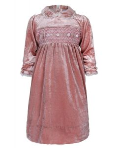 "Aurora Royal ""Rose Petal"" Blush Hand Smocked Dress. LIMITED"