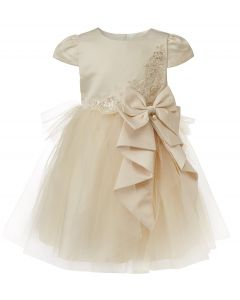 "Aurora Royal Girls Ivory Tulle & Taffeta ""  Shine "" Special Occasion Dress"