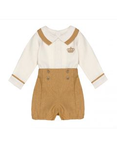 "Aurora Royal Boys Luxury Linen "" Duke "" 2 Pcs Outfit"