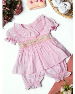 "Aurora Royal ""Miraya"" Pink Hand-Smocked  Pyjamas Set"
