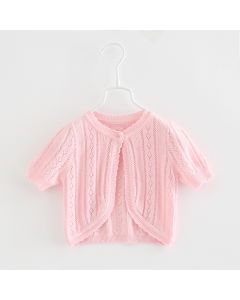 "Aurora Royal Pink  "" Maja "" Knit Cotton Cardigan/Bolero"