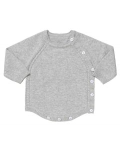 "Aurora Royal Grey "" Topaz "" Cotton Knitted Shortie"