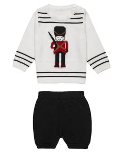 "Aurora Royal Two Piece "" Grenadier"" Fine Knitted Cotton Shorts Set"