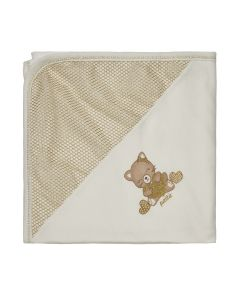 "Pima Cotton Ivory Gold ""Cuddle Hearts""  Blanket"