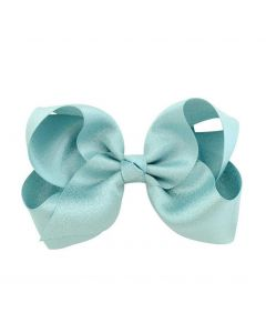 Aurora Royal  PACK OF 4 Handmade Glittery Satin Bow Hairclips.