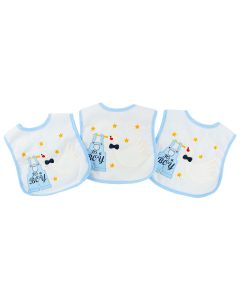 "PACK OF 3  PLASTIC LINING ""IT'S A BOY"" BOYS BABY BIBS"