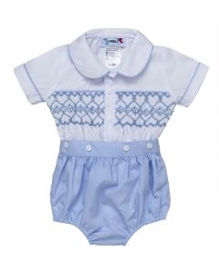 "Aurora Royal Boys "" Victor "" White @ Blue Traditional Buster Suit. LIMITED"