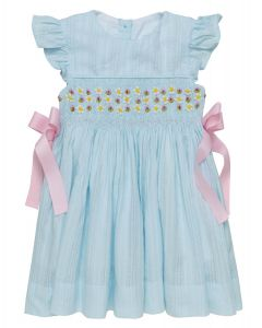 "Aurora Royal "" Anabelle "" Traditional Hand-Smocked Embroidered Dress. LIMITED"