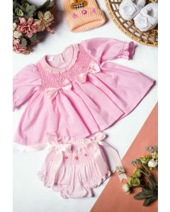"Aurora Royal ""Alma"" Gorgeous Hand Smocked Baby Set"