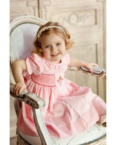 """Aurora Royal """" Rose Absolue"""" Traditional Hand-Smocked Cotton Dress. LIMITED."""