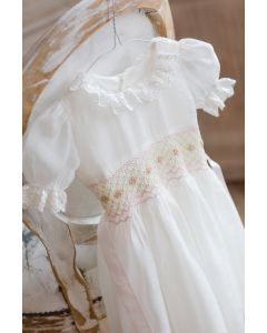 "Aurora Royal  ""Ophelia"" Ivory Crepe Dress & Bloomers Set"