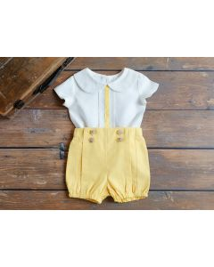 "Aurora Royal Boys Luxury "" Sebastian "" 2Pcs Linen Outfit"