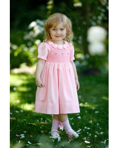 "Aurora Royal "" English Rose "" Hand Smocked Hand Dress. LIMITED"