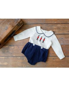"Boys Luxury Linen "" Oliver "" 2 Pcs Buster Suit."