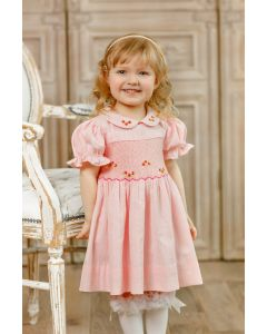 "Aurora Royal ""  Claudia "" Pink Traditional Hand-Smocked Dress. LIMITED"