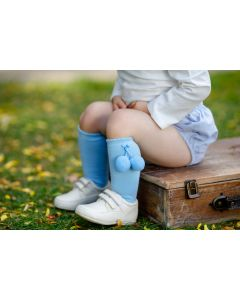 Aurora Royal Boys Sky Blue Cotton Socks
