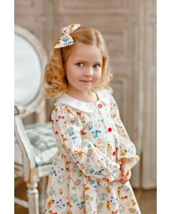 "Aurora Royal ""Best Friends"" Cotton Long Sleeves Dress"