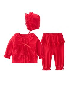 "Aurora Royal ""Rouge"" Baby Girls Red Leggings Set"
