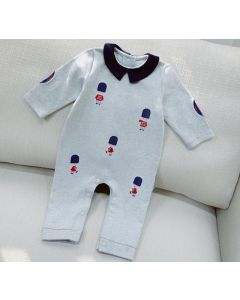 """PACK OF 4  Baby Boys Grey """"Max"""" Cotton Jersey Romper:SIZES: 3-6M,6-9M,9-12M,12-18M"""